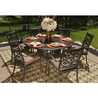 Round Outdoor Dining Table For 6 - Sesigncorp