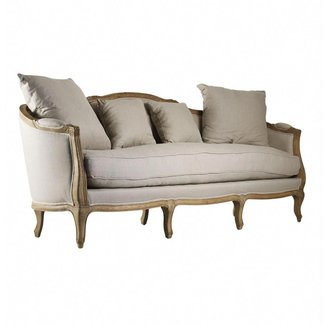 Rue du Bac French Country Linen Feather Down Sofa |