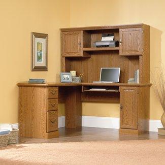 Sauder Orchard Hills Corner Computer Desk with Hutch | ATG