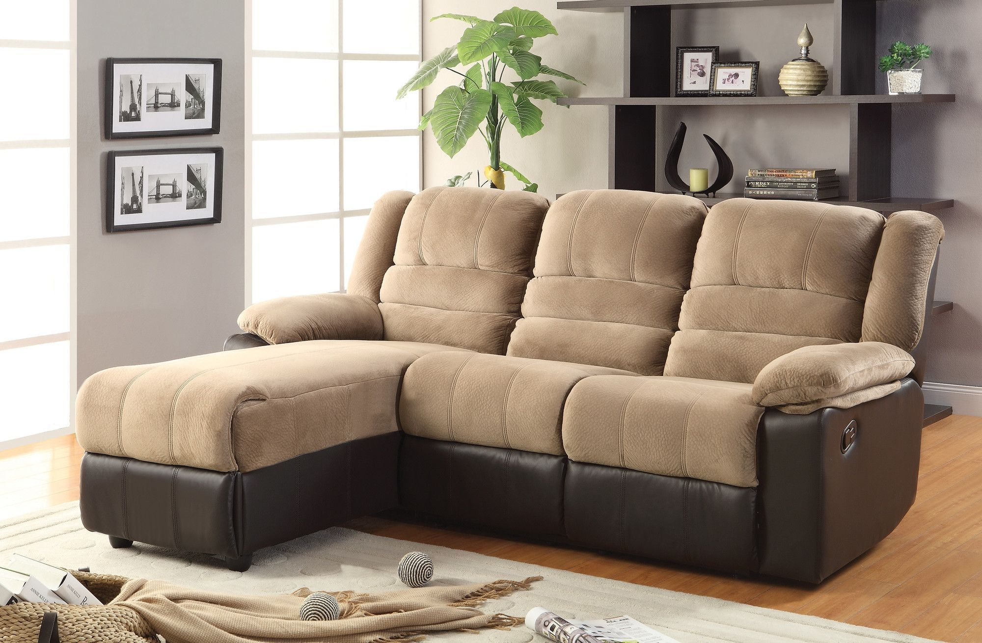Charmant Sectional Sofa With Chaise Lounge And Recliner Sectional .