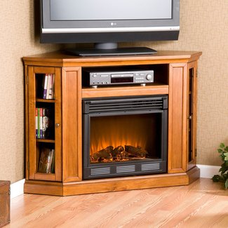 SEI Media Corner TV Stand Electric Fireplace FA9317E | eBay