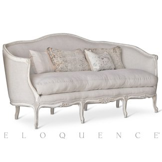 Seraphine French Country Louis XV Distressed Oyster White ...