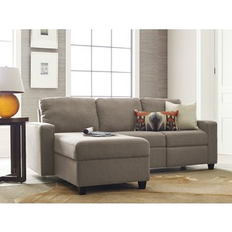 Serta Palisades Reclining Sectional with Left Storage Chaise - Beige
