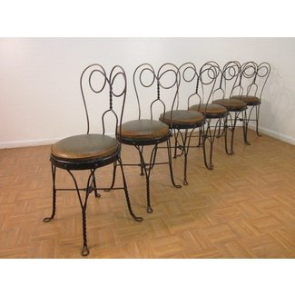 Set Of 6 Vintage Ice Cream Parlor Chairs At 1stdibs