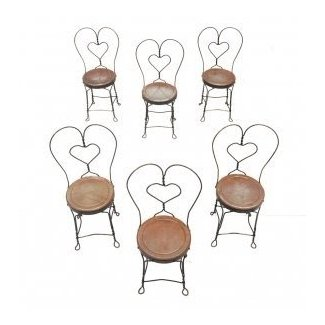 Set of Six Ice Cream Parlor Chairs : EBTH