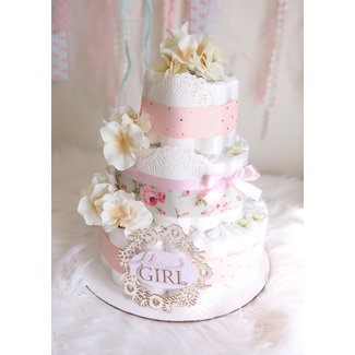Shabby Chic Baby Shower Cake | Car Interior Design