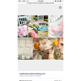 Shabby Chic Baby Shower Inspiration - Celebrations at Home