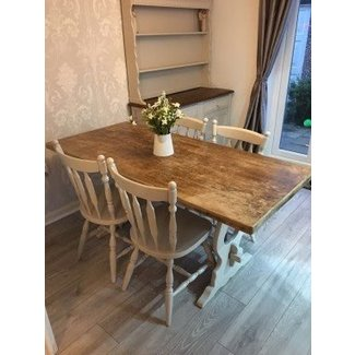 Shabby Chic Dining Table And Chairs Farmhouse • £249.99 ...