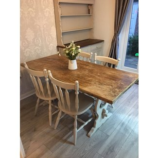 Shabby Chic Dining Table And Chairs Farmhouse • £249.99