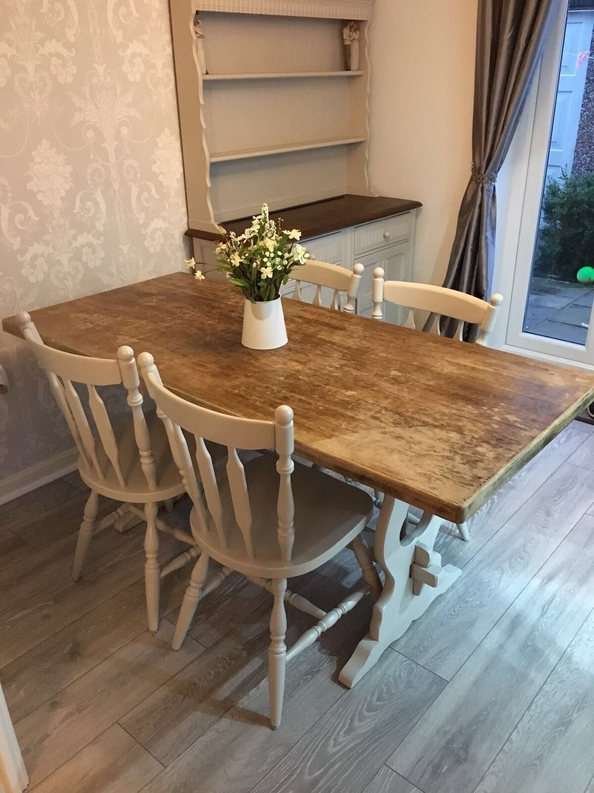 Delicieux Shabby Chic Dining Table And Chairs Farmhouse U2022 £249.99