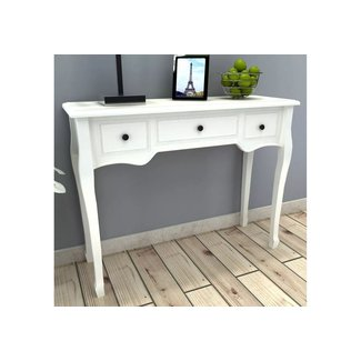 Shabby Chic Dressing Table White Console Tables 3 Drawers ...