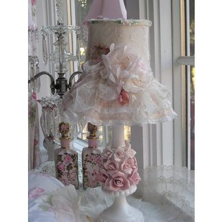 Shabby chic lamp shabe | shabby Chic Lamps | Pinterest