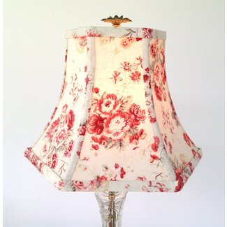 Shabby Chic Lamp Shade Lampshade French Vintage Cotton Hex