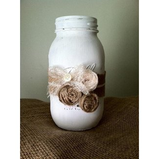 Shabby chic Mason Jar! | So many Mason Jar Idea's