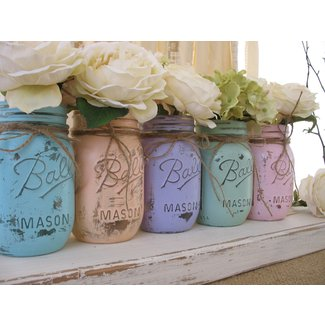 Shabby Chic Mason Jars Diy A One Hour Craft |