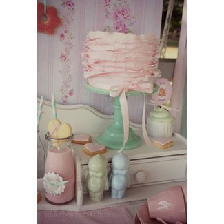 Shabby Chic Pink and Mint Baby Shower via Kara's Party