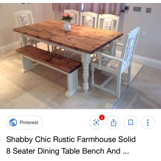 Shabby Chic Rustic Farmhouse Solid 8 Seater Dining Table ...