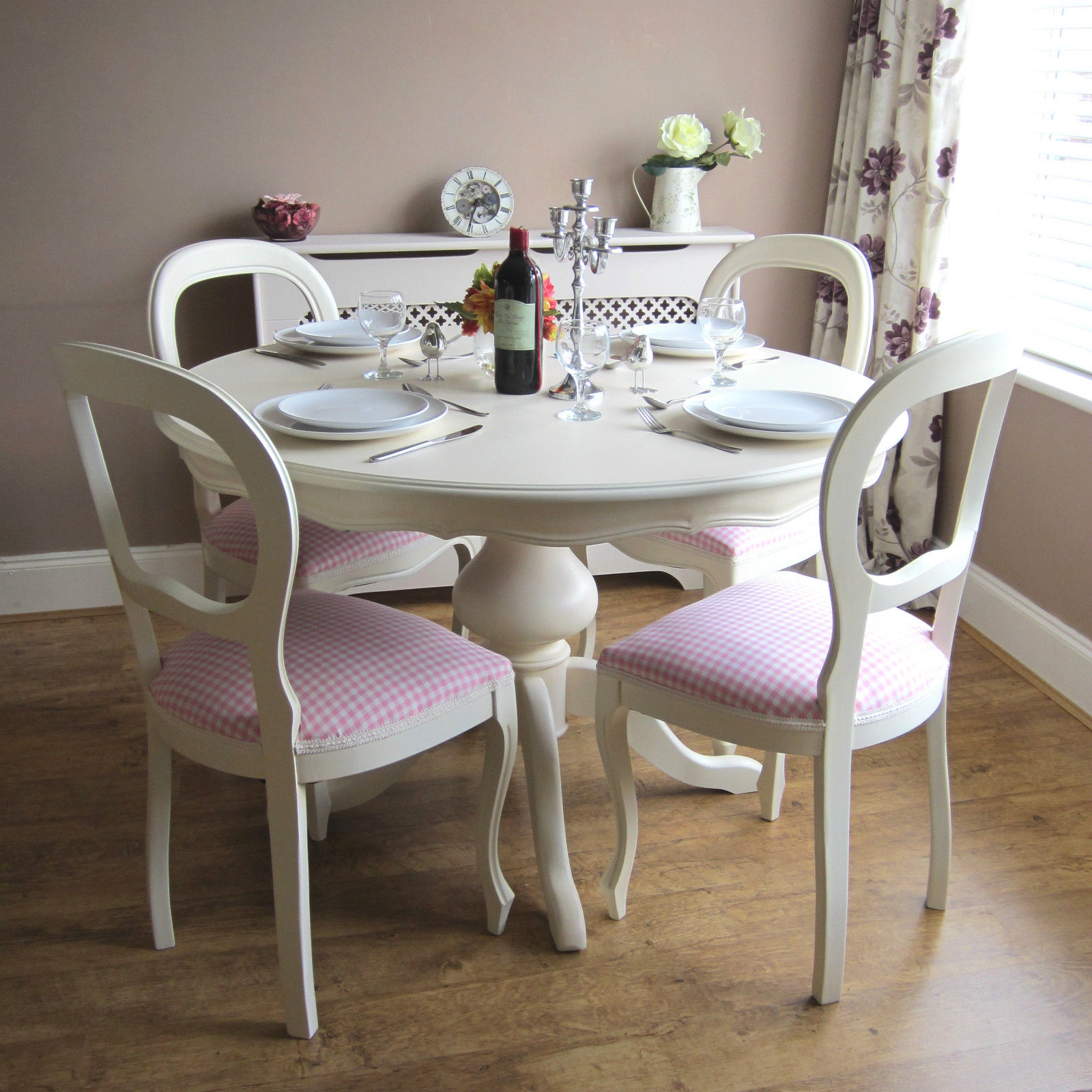 Charmant Shabby Chic Table And Chairs | EBay