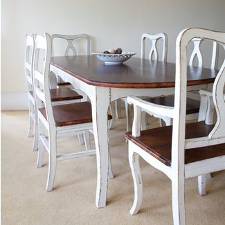 shabby chic tables | provence shabby chic rounded edge ...