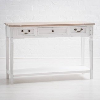 Shabby Chic White Console Table. Quality Large Kitchen ...