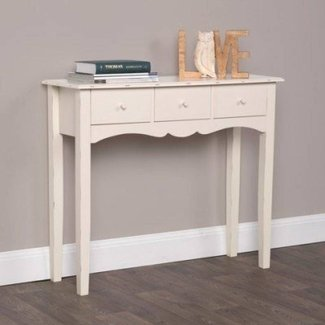 Shabby Chic Wooden 3 Drawer Console Table - homepage
