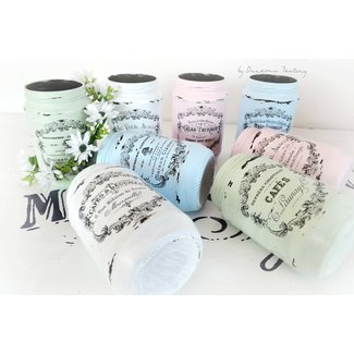 Shabby French Painted Jars - Dreams Factory