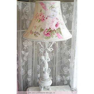 Shabby Victorian LAMP SHADE Antique FRENCH ROSE chic ...