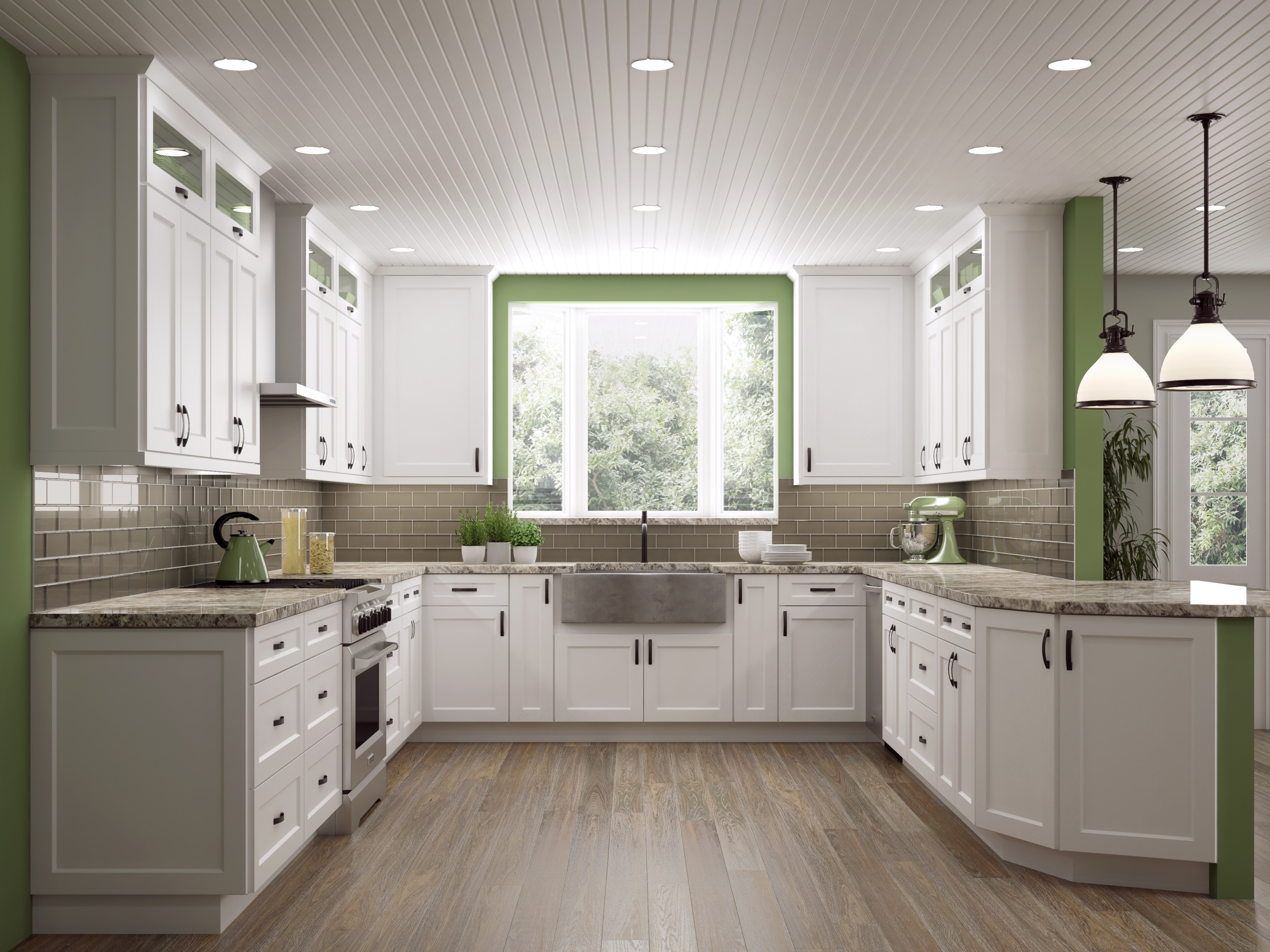 Shaker White Or Antique White Kitchen Cabinets We Ship .