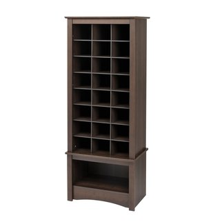 Shop Prepac Furniture 24 Pair Espresso Wood Shoe Cubbie ...