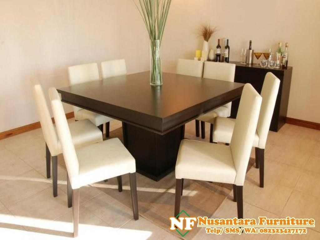 Simple And Fresh Square Dining Table For 8 | Stroovi