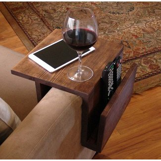 Simply Awesome Couch Sofa Arm Rest Wrap Tray Table by