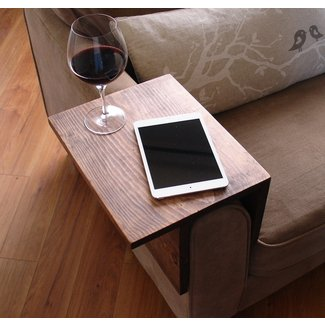 Simply Awesome Couch Sofa Arm Rest Wrap Tray Table (Narrow