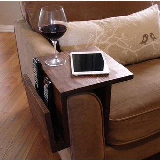 Simply Awesome Couch Sofa Arm Rest Wrap Tray Table with