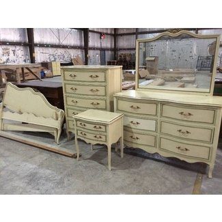 Six Piece Vintage Drexel French Provincial Bedroom Set ...