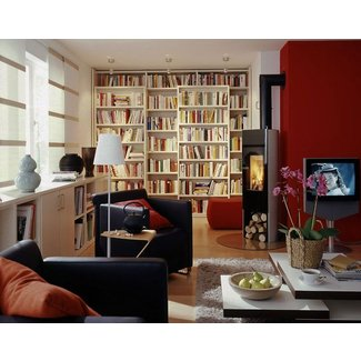 Sliding Book Shelves for Living Room Makeover, Space ...