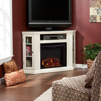 Small Corner Electric Fireplace TV Stand Ideas | Small ...