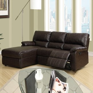Small Leather Recliners. . . Recliners. Avanti Push Back ...