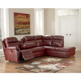 Small Sectional Sofa With Recliner - Small Chocolate ...