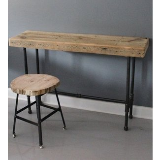 Small Urban Laptop Desk - Reclaimed Wood & Pipe