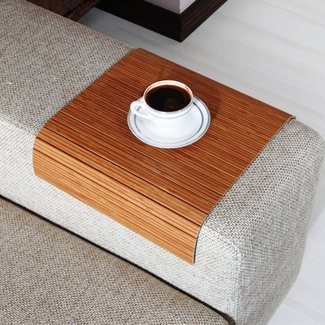 Sofa Tray Table (bamboo),Sofa Arm Tray,Armrest Tray,Sofa
