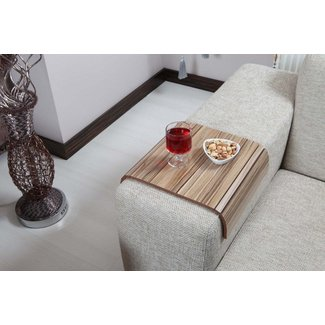 Sofa Tray Table ( European Walnut V2 ), Sofa Arm Table, Sofa Table, Armrest Tray Organizer, Side Sofa Table, Coffee Tea Tray, Tv Tray Table, Wood Gifts
