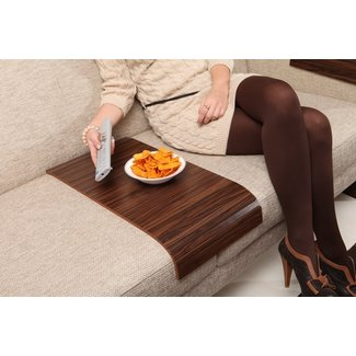 Sofa Tray Table Long Brazilian Walnut Sofa Arm by ...