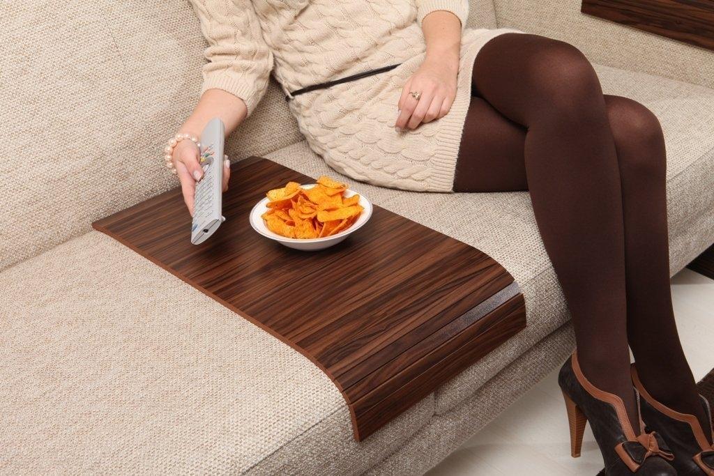 Sofa Tray Table   Long ( Brazilian Walnut ), Sofa Arm Tray, Armrest Tray