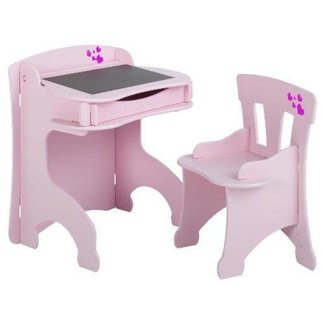 Solid Children's Wooden Desk and Chair Set Plans