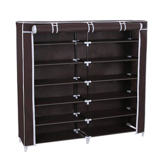 Songmics 7 Tiers Shoe Rack Closet with Fabric Cover ...