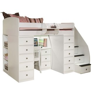 Space loft bed with desk – | Full size loft