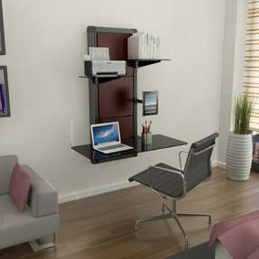 Astonishing Wall Mounted Computer Desk Visual Hunt Interior Design Ideas Tzicisoteloinfo