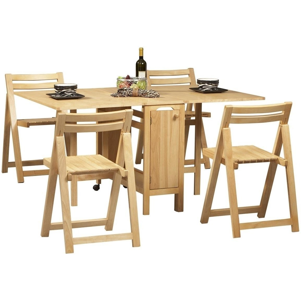 Space Saving Dining Table Chairs Set   Interior Space .
