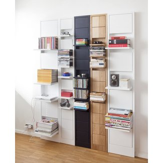 Space Saving: Individual Shelves which fold up when not in