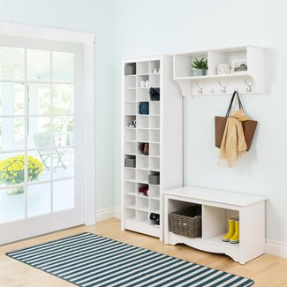 Space-Saving Shoe Storage Cabinet, White | Prepac ...